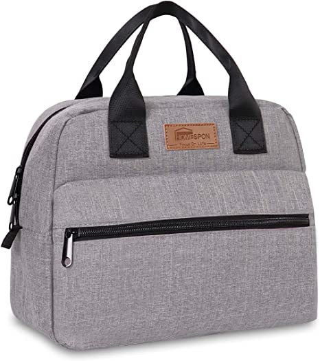Insulated Lunch Box Lunch Bag Thermal Food Container Grey Cooler Picnic Beach