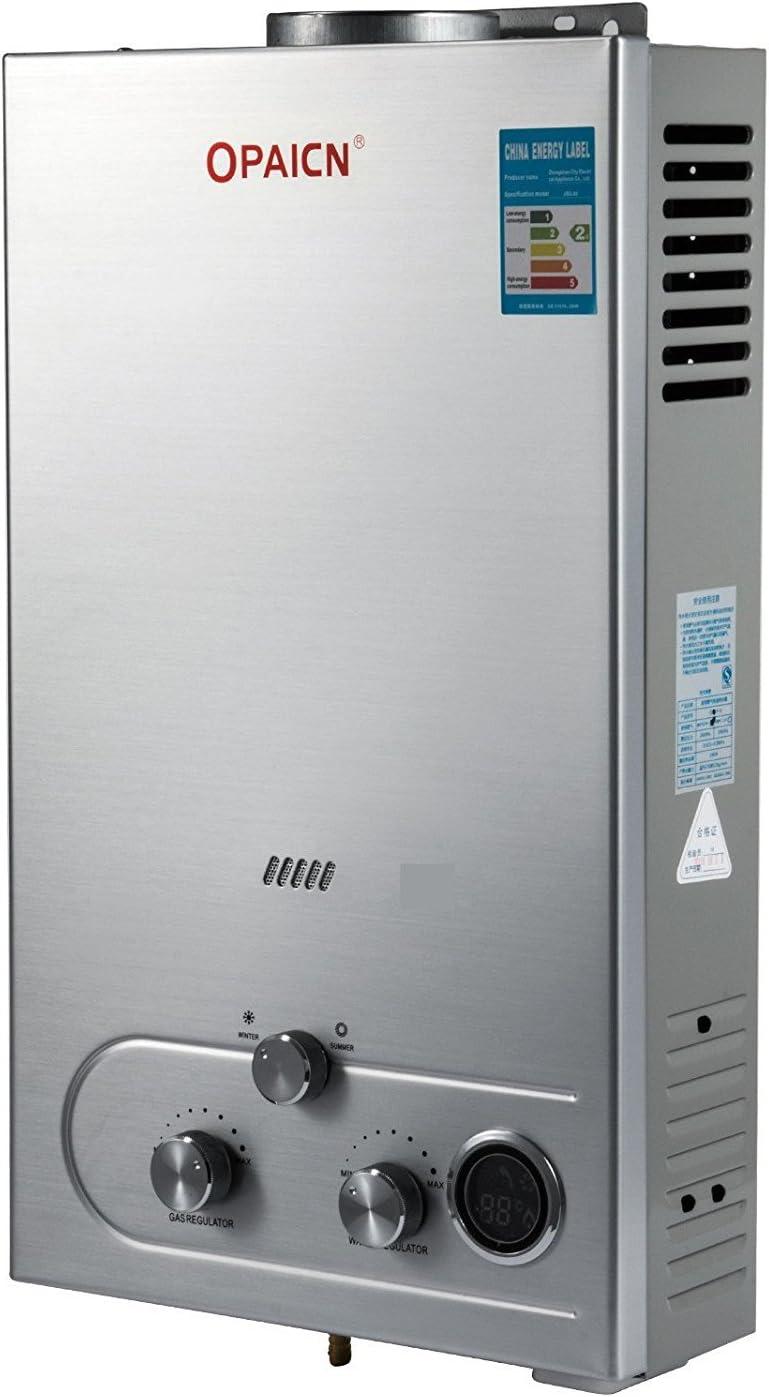 Guellin LNG Calentador de Agua de Gas Natural Calentador de Agua Calentador de Agua Automático Calentador de Agua Instantáneo Natural Gas Water Heater (16L): Amazon.es: Bricolaje y herramientas