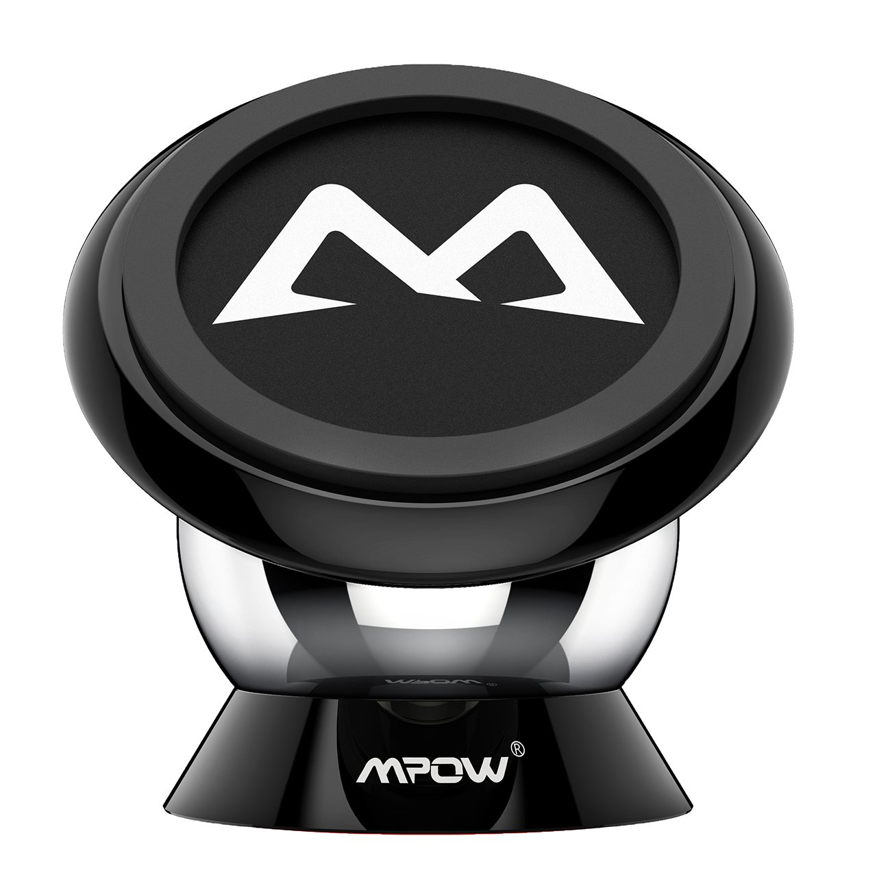 Car Mount Holder, Mpow Magnetic Cell Phone Holder 360° Rotatable Universal Sticky Mini Dashboard GPS Car Mount Phone Cradle for iPhone 7 7 Plus 6S/6 Plus, Galaxy S7/ S6/ S6 Edge/S5, Black PAMCM18-V