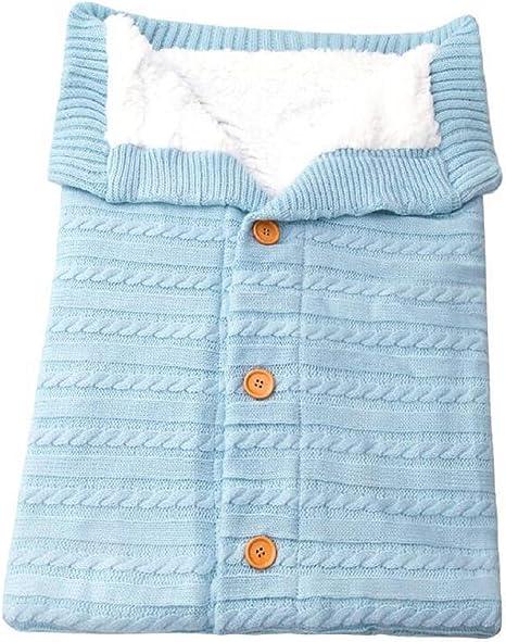 Miscoloor Recién Nacido Abrigo Saco de Dormir Nido de bebé Saco de Dormir de Punto Saco Infantil para Cochecito Envoltura 0–24 Meses (Azul): Amazon.es: Ropa y accesorios
