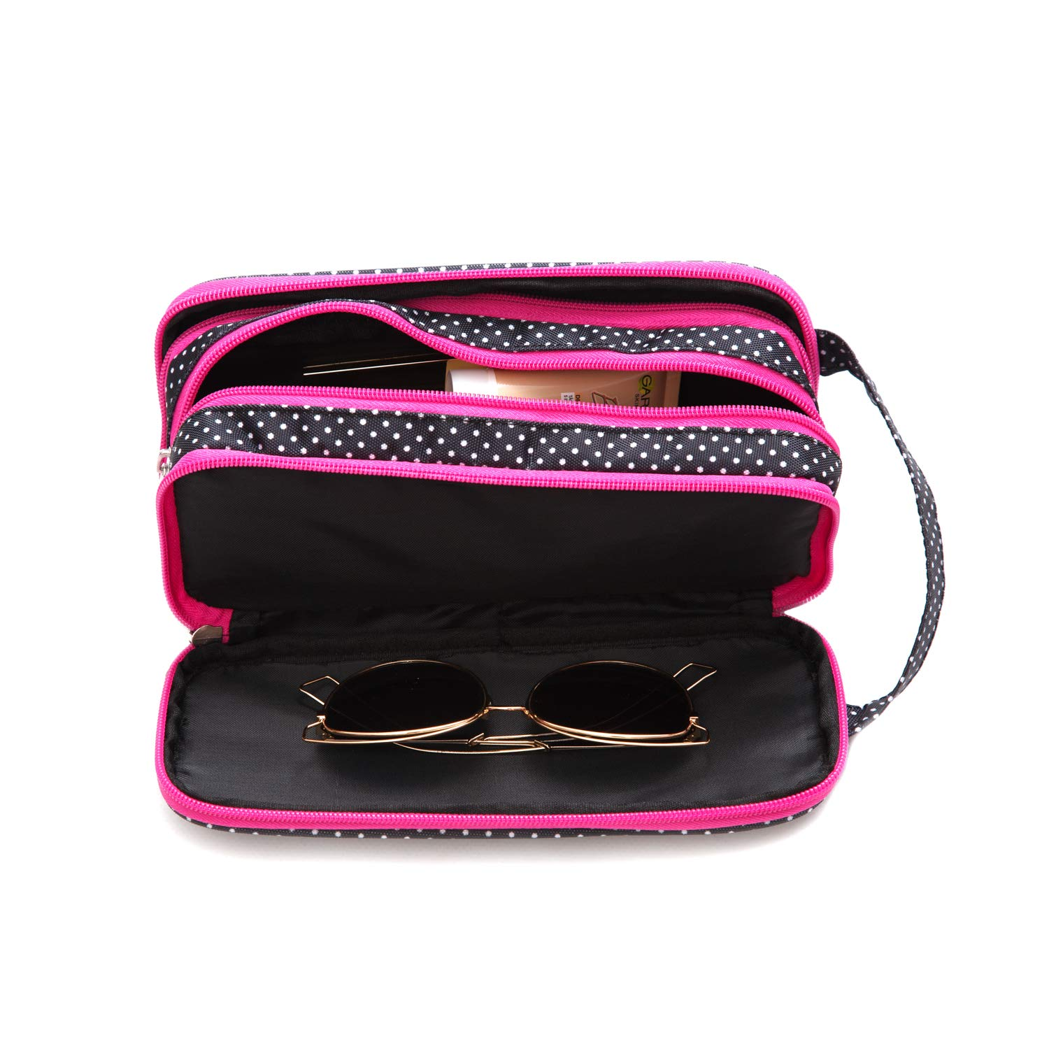 Amazon.com : Versatile Travel Makeup Bag - Large Cosmetic Pouch - Travel Organizer For Your Cosmetics : Beauty