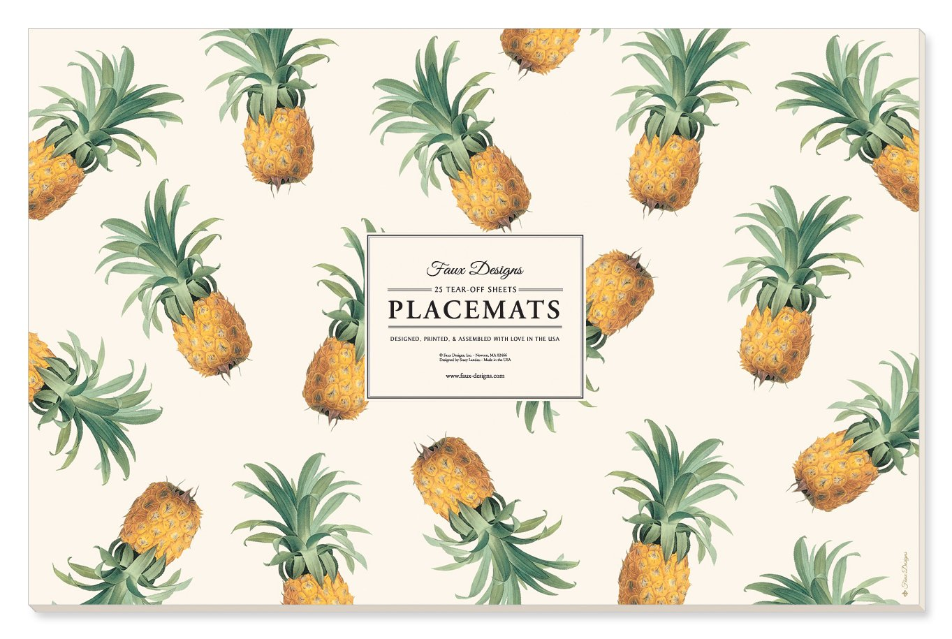 Faux Designs Paper Placemats - Pineapple