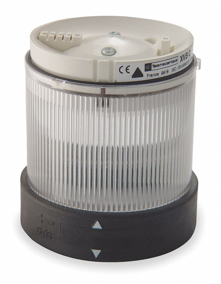 240VAC Incandescent or LED Tower Light Module Steady with 70mm Dia., Clear