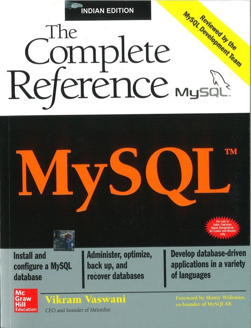Buy Mysql Tm The Complete Reference Book Online At Low Prices In