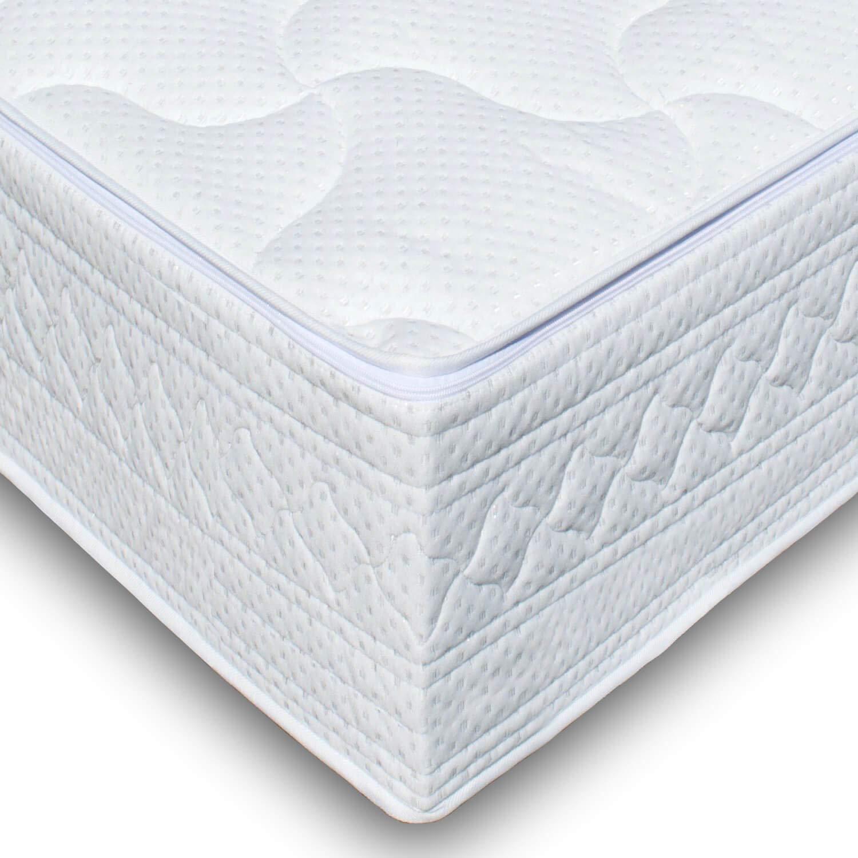 Traumreiter Matratzenbezug Silver Höhe 20-23cm echtes Silber-Garn Matratzen-Auflage Wasserbett Bezug Auflage Matratzenschoner (180 x 200 cm)