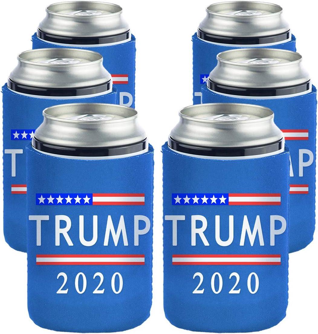 - Can Cooler Proud Republican TRUMP Koozie -- Grey 12 oz Neoprene