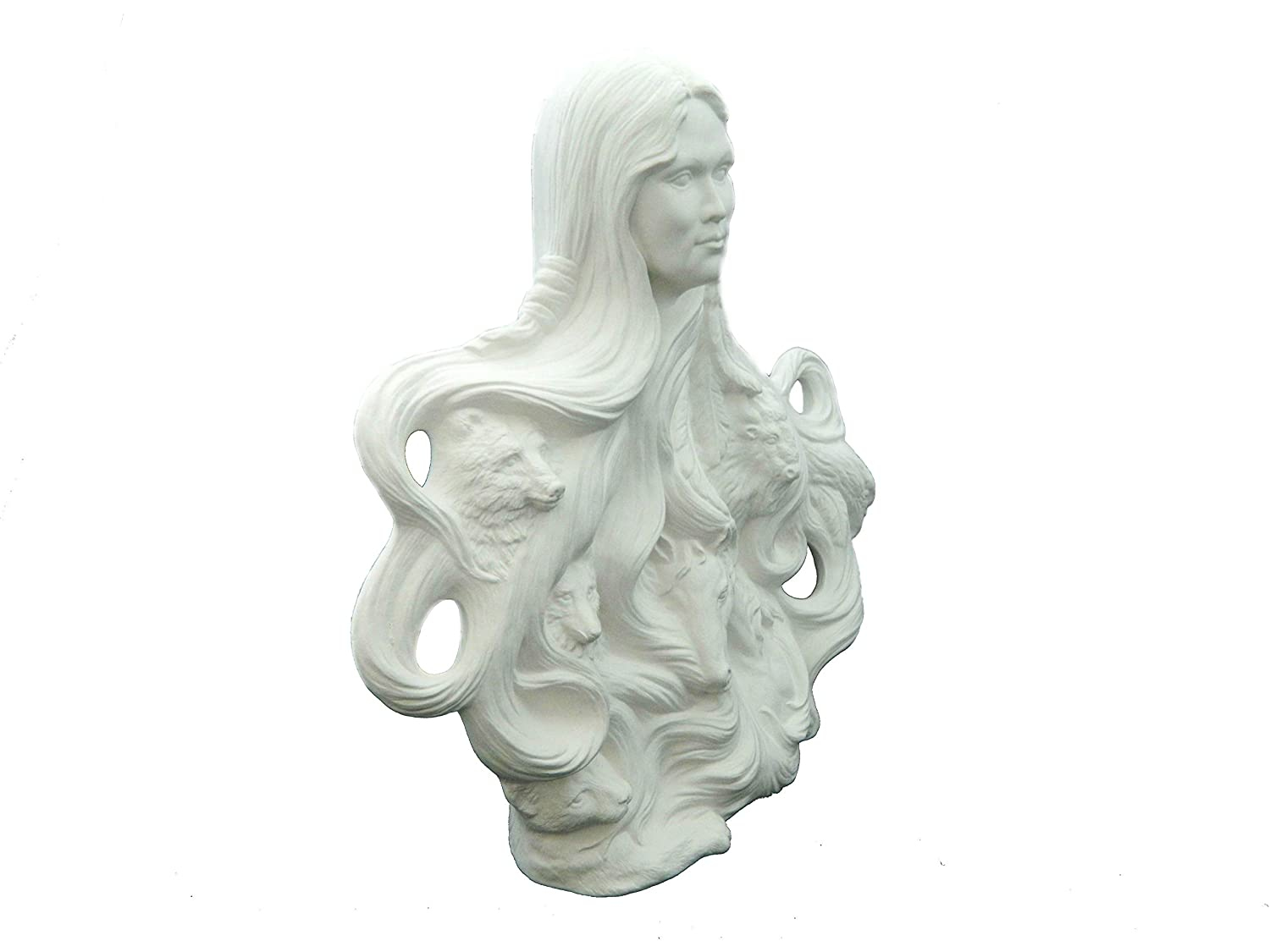 Ready to Paint Ceramic Bisque Hand Poured in The USA Native American Nature Spirit