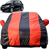 Autofact Car Body Cover for Toyota Etios Liva (Mirror Pocket Fabric, Triple Stiched, Fully Elastic, Red/Blue Color)