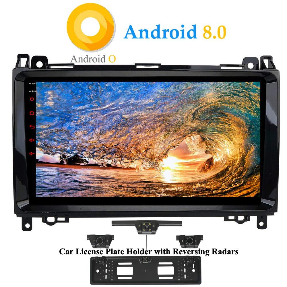 Vito XISEDO Android 8.0 in-Dash 9 Pouces Autoradio Voiture Radio /à /Écran Tactile 8-Core RAM 4G ROM 32G Car Radio Syst/ème de Navigation GPS pour Mercedes-Benz A-W169 Viano Sprinter B-W245