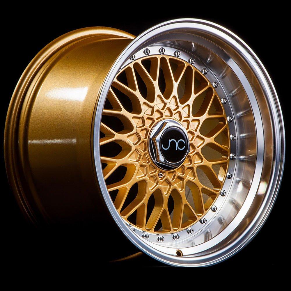 JNC Wheels - 17' JNC004 Gold Machined Lip Rim - 5x112/5x120 - 17x10 inch