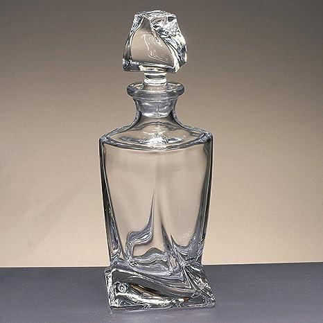 Botella de Cristal, Decanter, garrafa, para Whisky y Licor, de Bohemia,
