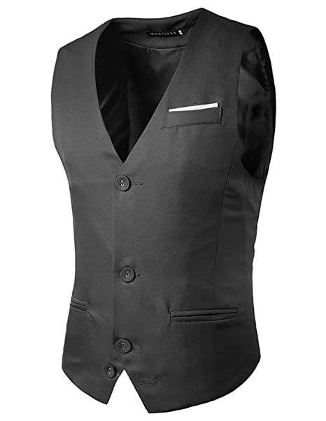 Boom Fashion Hombre Elegante Chaleco Traje Slim Fit Waistcoat AGiy6Oz
