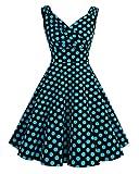 Bridesmay Robe courte vintage rétro Audrey Hepburn années 50 Rockabilly