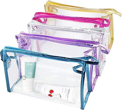 WA Transparent /étanche de voyage maquillage Sac Cosm/étique Trousse de toilette Sac /à fermeture /Éclair Da