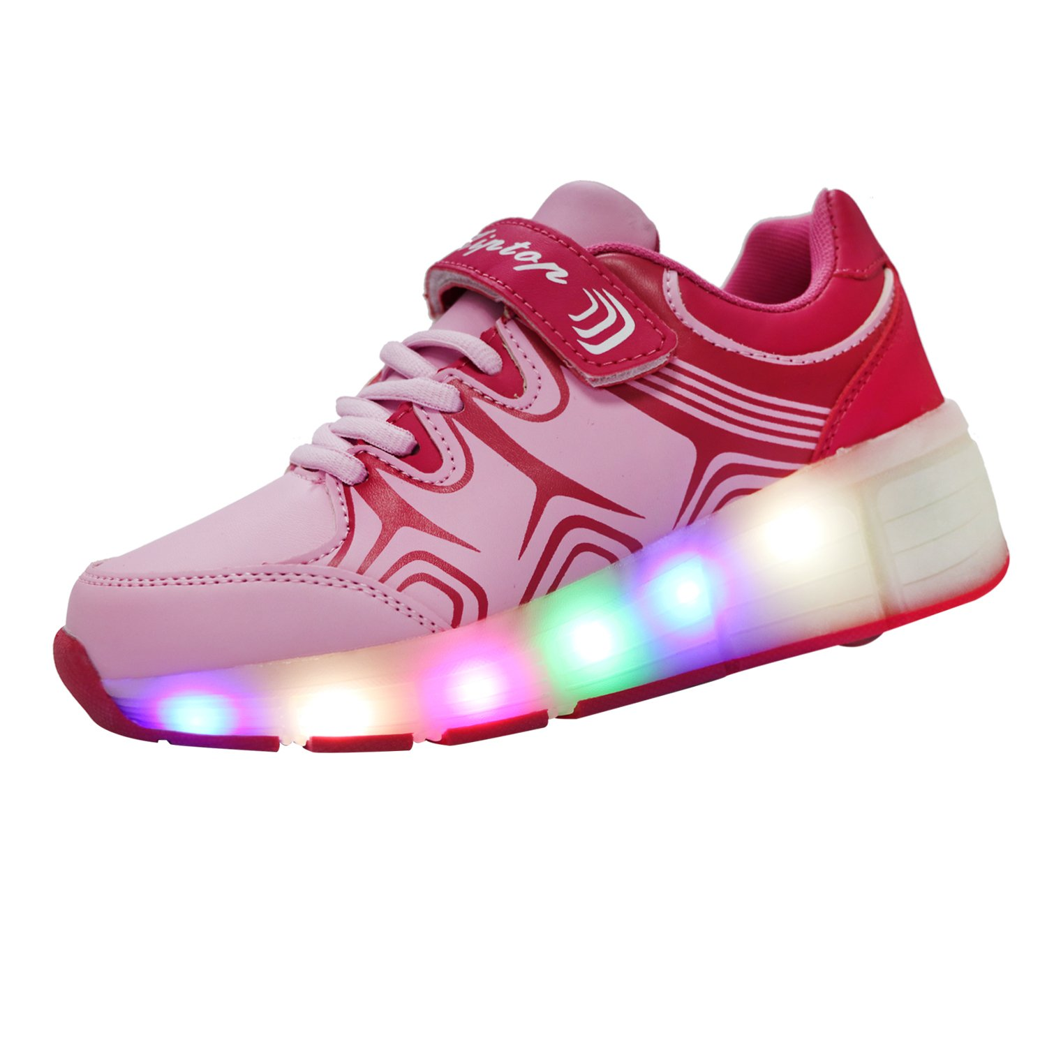 Roller shoes london - Kiptop Kids Led Flashing Lights Sneakers Roller Shoes Trainers For Boys Girls Without Usb
