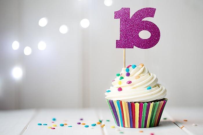 Amazon 16 Cupcake Topper Sweet 16 Birthday Decor 16th