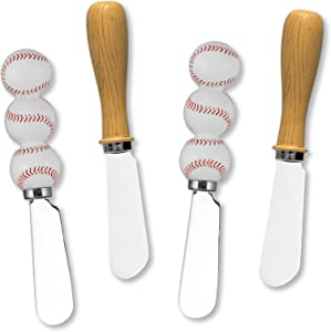 Wine Things Baseball Resin Cheese Spreaders Set of 4