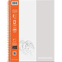 "Roaring Spring Whitelines Sketch Book, 12""x9"", 50 Sheets"