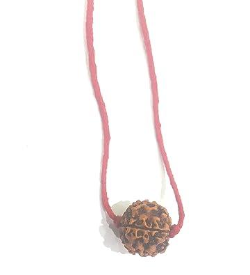 AMMAN 5 Mukhi Natural Rudraksha Pendant with Red Thread 22