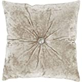 Catherine Lansfield Crushed Velvet Filled Cushion Natural, 45x45cm