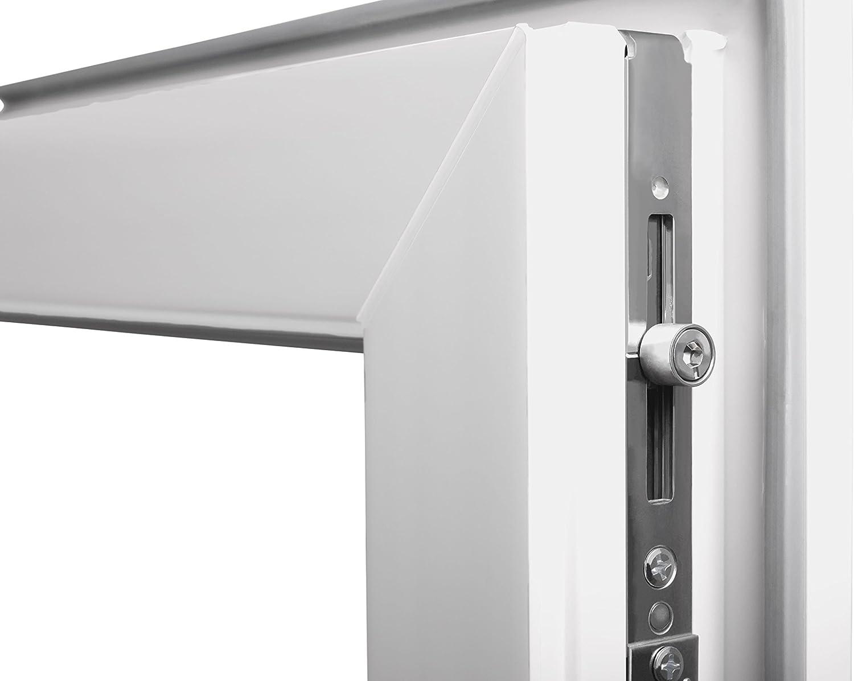 Fenster Kellerfenster ESG 2 fach Verglasung Dreh Kipp Wei/ß BxH 70x110 cm Rechts Premium