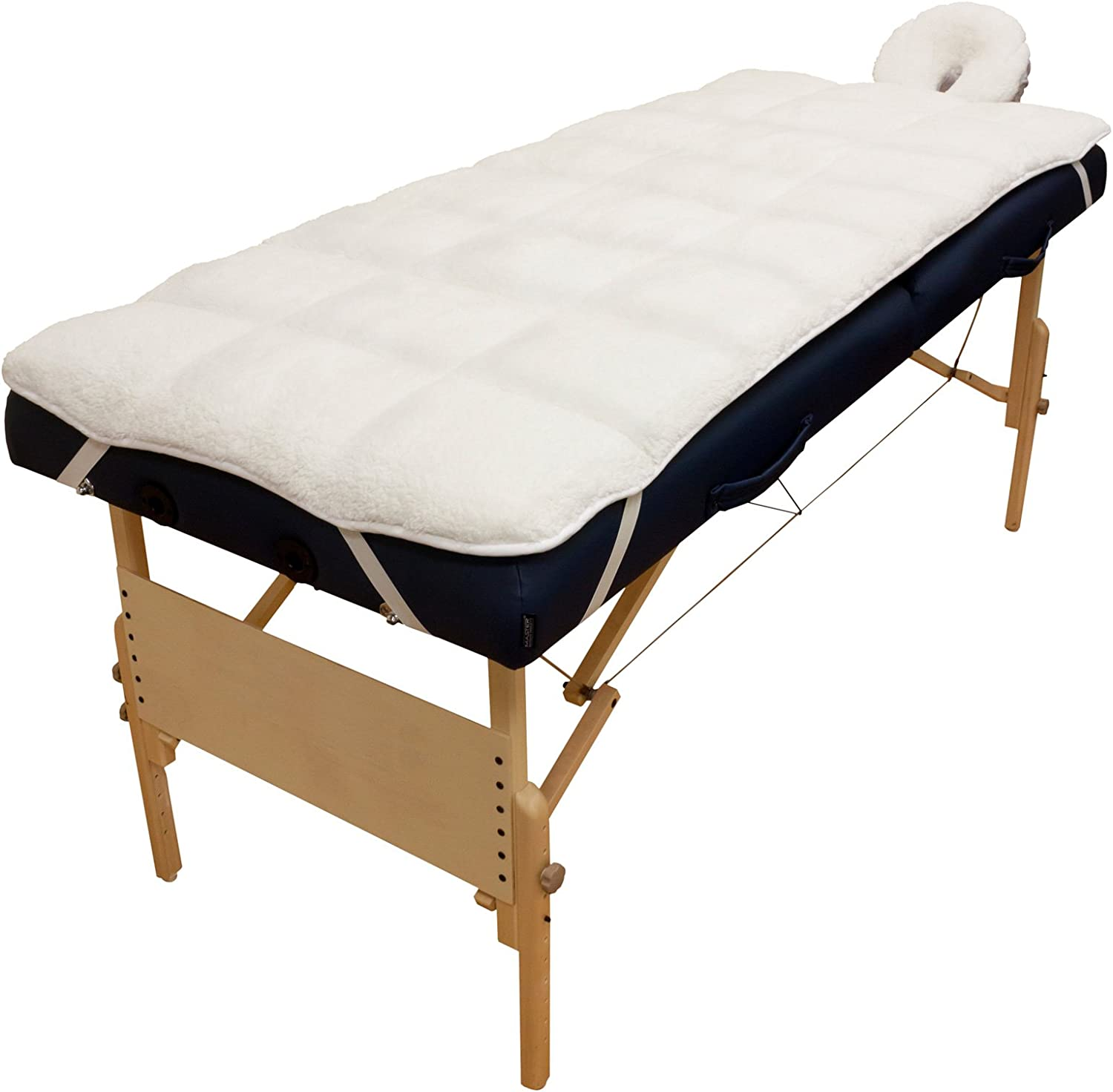 Body Linen Abundance Deluxe Quilted Fleece Massage Table Pad Set, 3.2 Pound
