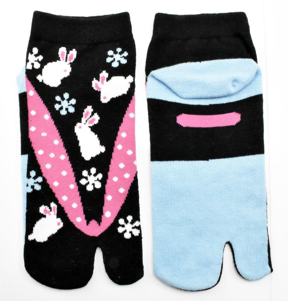 Tabi calcetines de Sapporo japonés Split 2 par Toe Ninja Geta Flip Flop Sandalia calcetines altos: Amazon.es: Deportes y aire libre