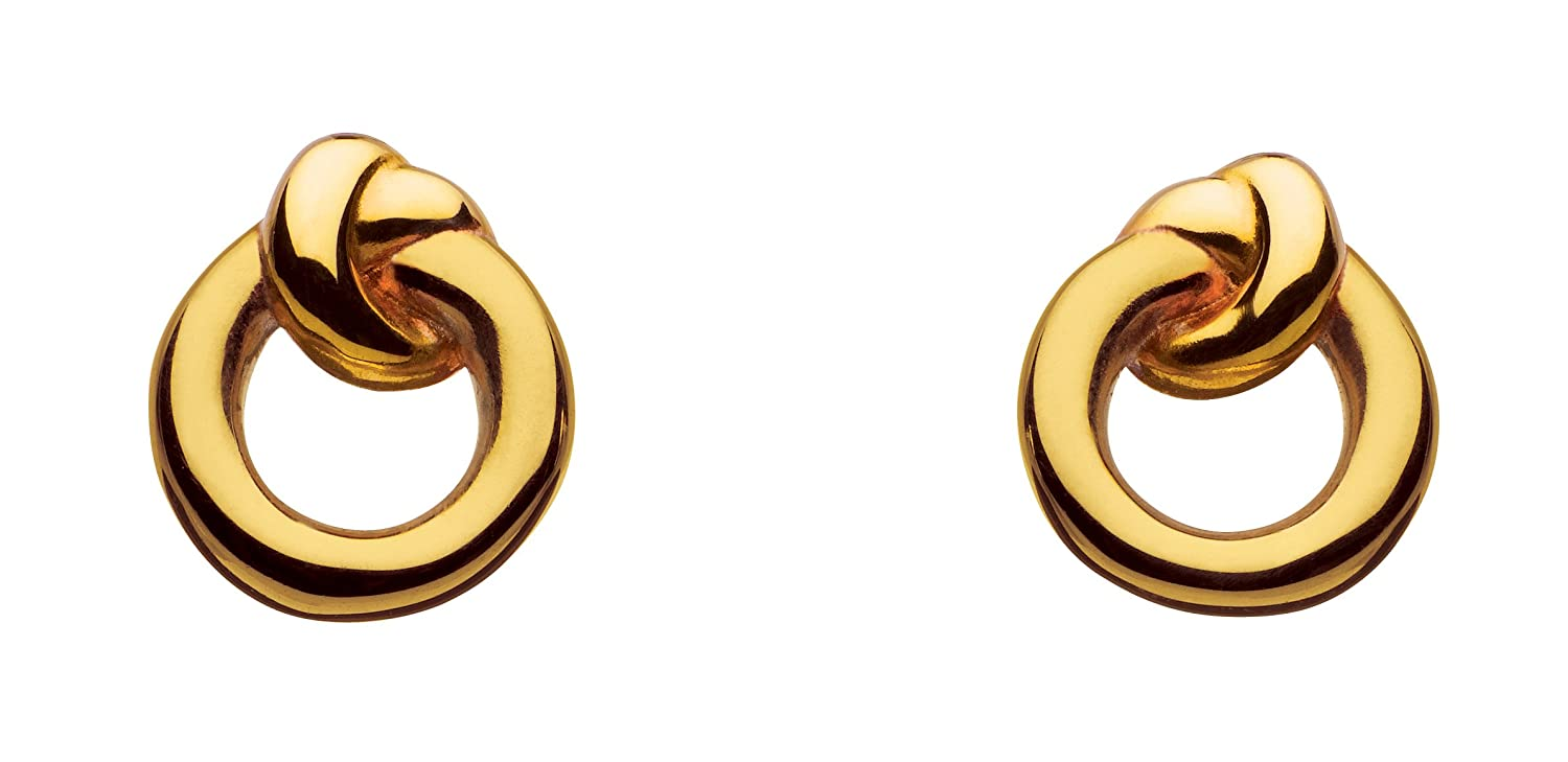 54ab44dadef2a5 Kit Heath Sterling Silver and Gold Plated Amity Knot Stud Earrings:  Amazon.co.uk: Jewellery