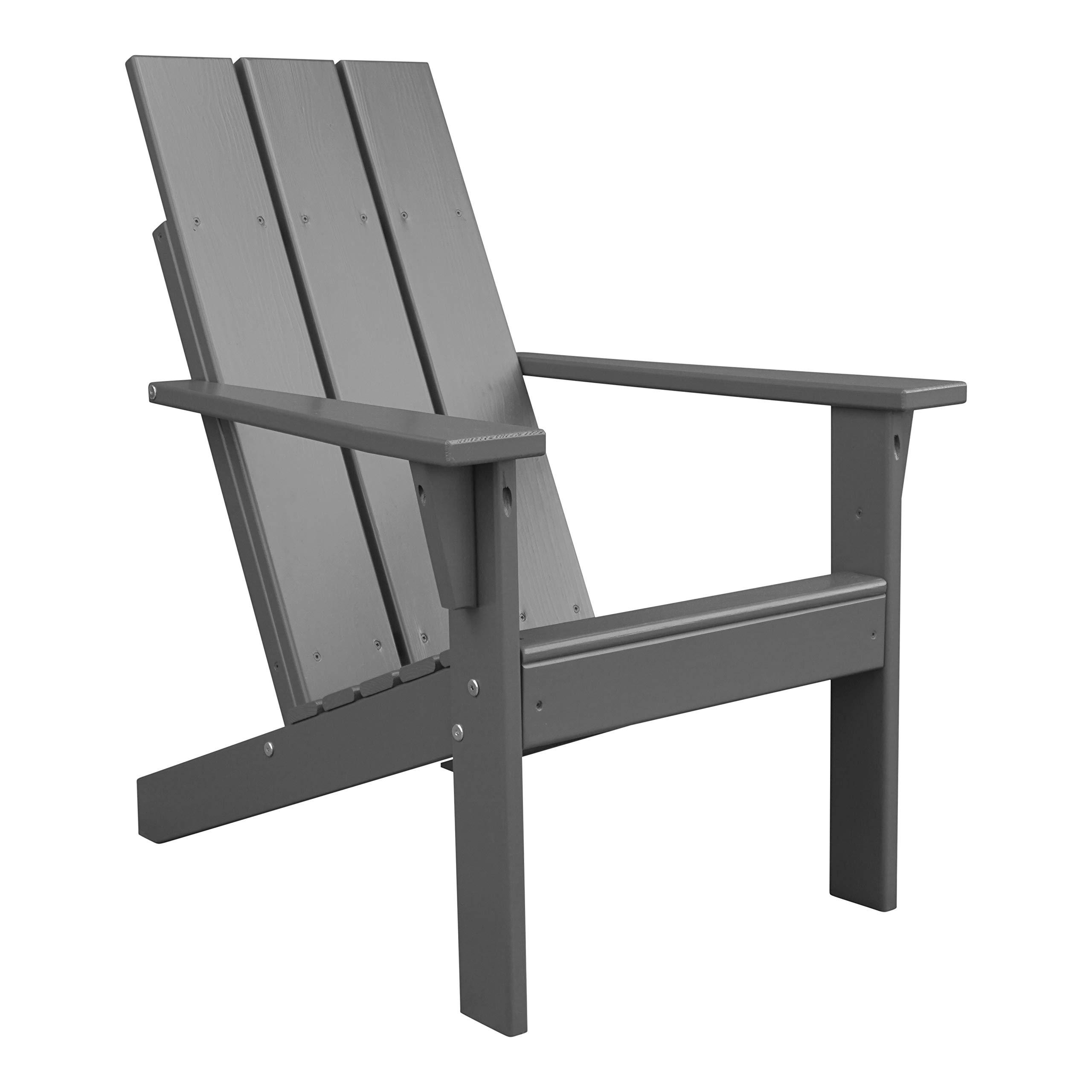 Porchgate Amish Made Heavy Duty Modern Adirondack Chair (Charcoal Grey)