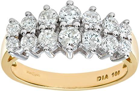 anillo oro y 14 diamante