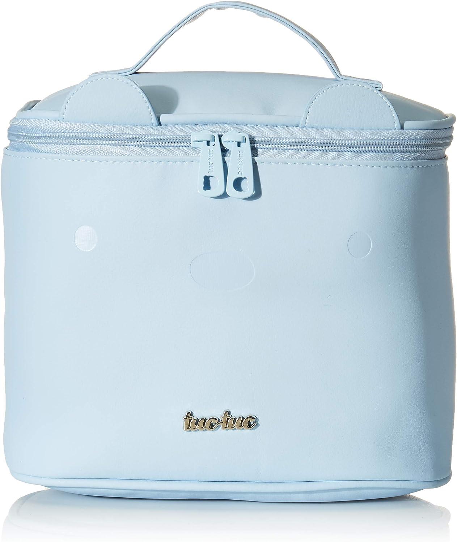 Tuc Tuc Brioche - Neceser redondo de polipiel, color azul celeste