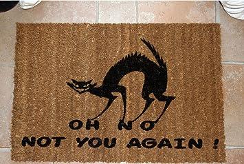 TORINO IN Felpudo Diseño OH NO Not You Again Gato cm. 100 x 50 Coco Natural Cepillo se Seca Suciedad: Amazon.es: Hogar