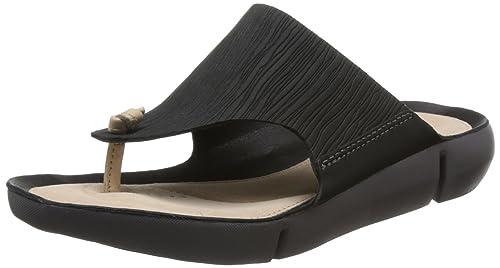 9cadc0e8d488 Clarks Women s Tri Carmen Black Nubuck Leather Fashion Sandals-3 UK India  (35.5