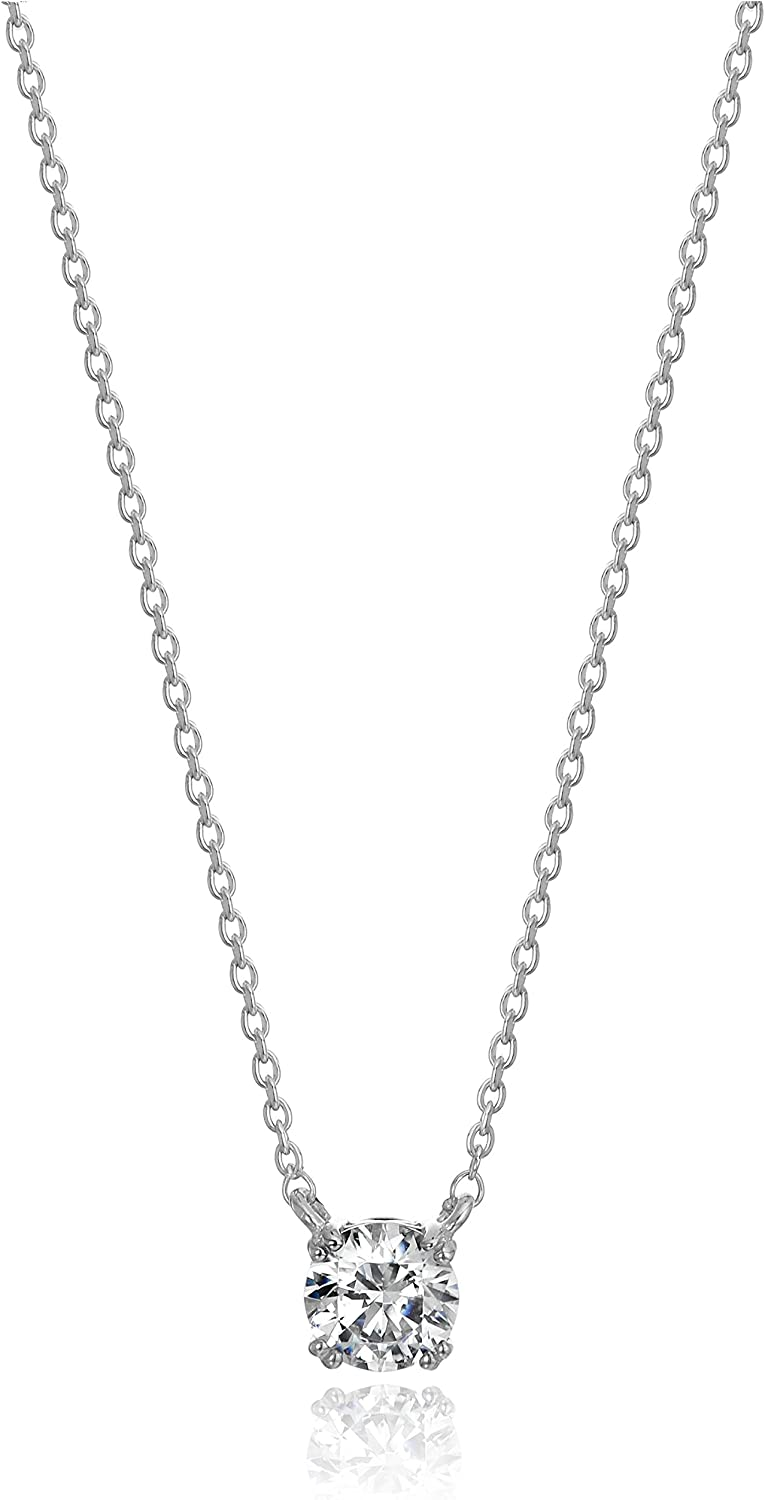 Top 10 Sterling Silver White Round Diamond Miracle Plated Necklace