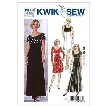 KwikSew Schnittmuster 2473 Kleid XS-S-M-L-XL: Amazon.de: Küche ...