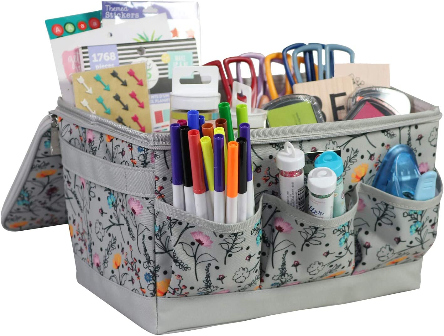 for Yarn Crafts Printed Floral Includes Scrapbook Tote /& Craft Caddy Yarn Tote Everything Mary Craft Organizer Collection Set /& More Sewing Spinning Caddy