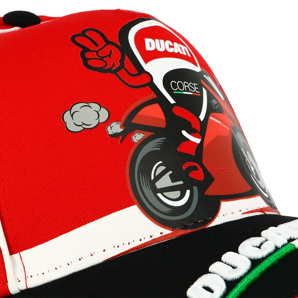 Ducati Corse Moto GP Racing Baseball Cap Kids Bike Red Official 2018
