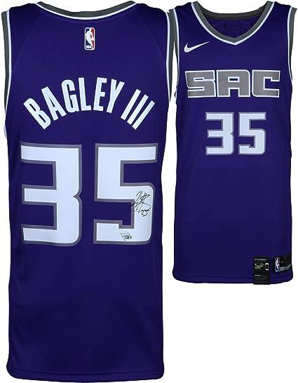 new concept 3a76a db5a0 Marvin Bagley III Sacramento Kings Autographed Purple Nike ...
