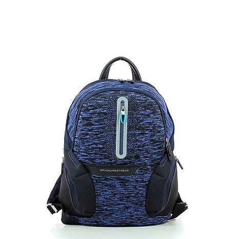 Piquadro Coleos Mochila Tipo Casual, Azul (BLU)