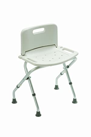 Drive Medical 12487KDR - Silla plegable para bañera, color blanco: Amazon.es: Salud y cuidado personal