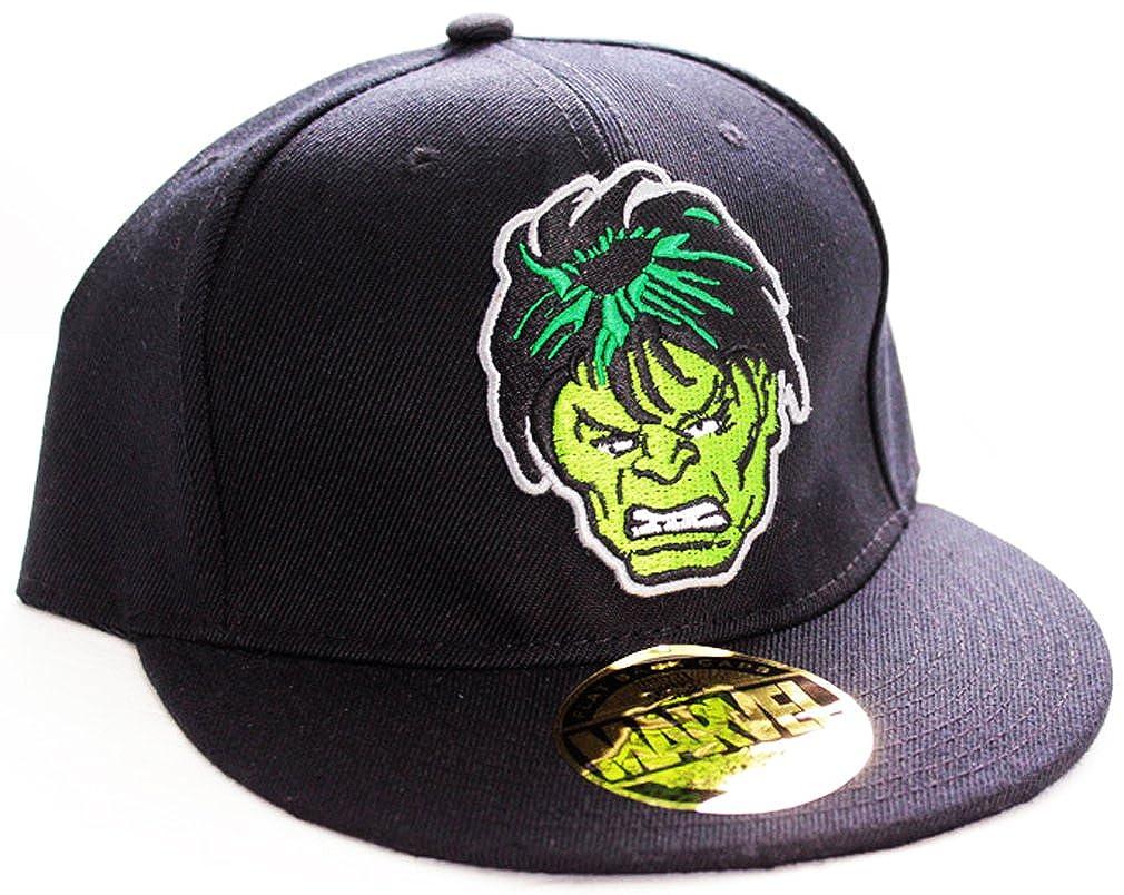 The Incredible Hulk Marvel Comics FACE Flat gorra Negro CODI ...