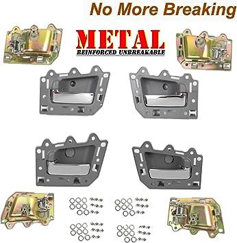 Inside Door Handle 4PCS For 2005-2011 Jeep Grand Cherokee Beige Chrome Bolt