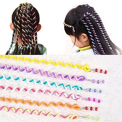 12pcs para las niñas diadema Colorful Crystal largo elástico bandas de pelo Hairwear hairbands de regalo de los niños Niños accesorios para el pelo