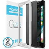 iPhone 7 Plus Screen Protector, Maxboost [Privacy Black] iPhone 7 Plus Screen Privacy Screen Protector Anti-Spy Tempered Glass Screen Premium Anti-Scratch, Anti-Fingerprint, Easy Install - 2 Pack