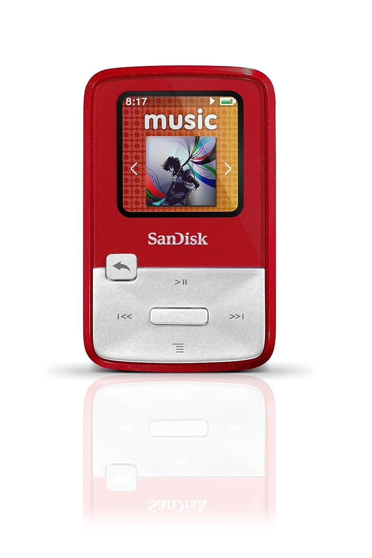 Sandisk SDMX22-004G-A57R 4GB Rojo - Reproductor MP3 (4 GB, CSTN, Radio FM, Rojo): Amazon.es: Electrónica