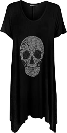 Halloween SCARY CUTE SKULL Black T-Shirt with Pink Lacey Hem fit American Girl
