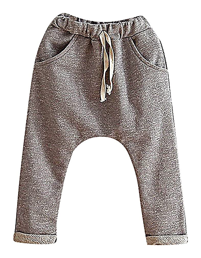 Sweety, Unisex Kids' Plain Solid Color Soft Pull On Cotton Harem Sweatpants SWT1B811