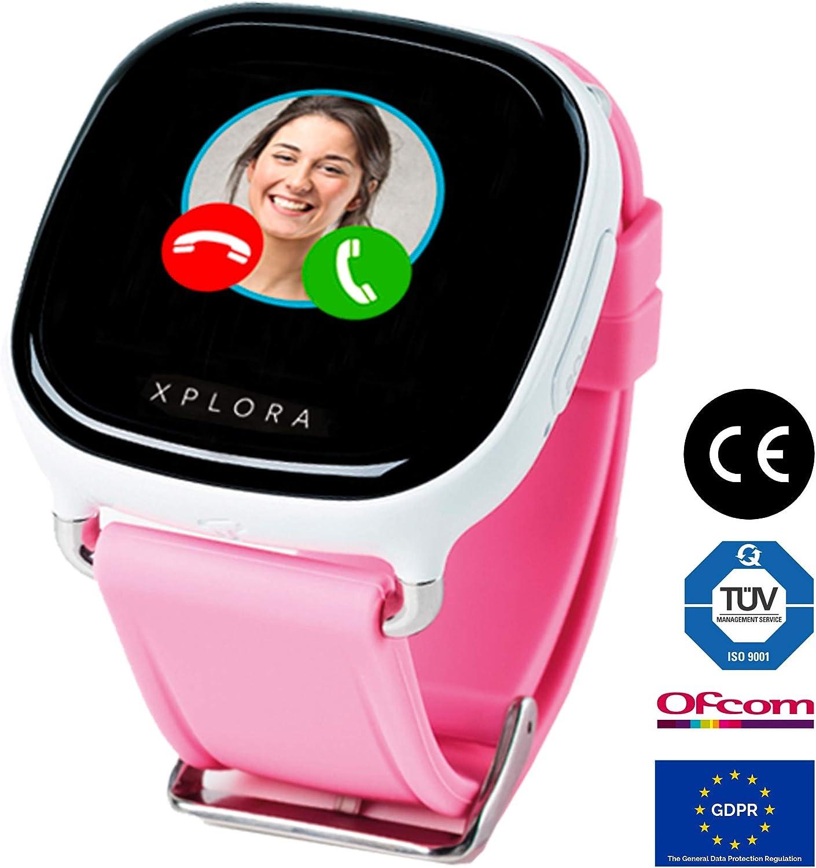 XPLORA 1 - Smartwatch para niños (No Incluye SIM), Localización GPS Llamadas telefónicas, Envío y recepción de Mensajes de Texto Mensajes de Voz Emojis Modo Escolar Calendario SOS (Blanco)
