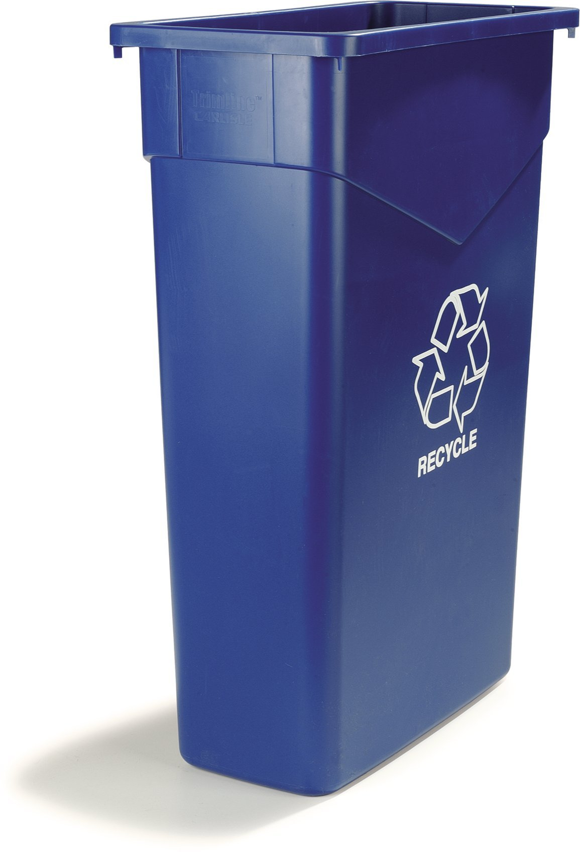 Carlisle 342023REC14 TrimLine LLDPE Recycle Can, 23 Gallon Capacity, 20'' Length x 11'' Width x 29.88'' Height, Blue by Carlisle (Image #7)