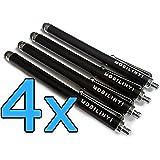 4x Mobilinyi Stylus Pen Touchstift schwarz für Smartphones und Tablets mit Touchscreen, für iPhone iPad iPod Samsung Blackberry Google Sony